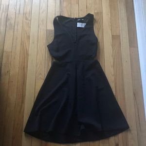 Express little black dress with cut outs